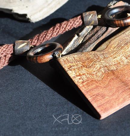 Крупная деревянная подвеска из бубинга ручной работы на заказ