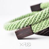 Мятно-коричневый стильный браслет в стиле минимализм