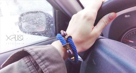Льняной браслет винтаж ручной работы на заказ