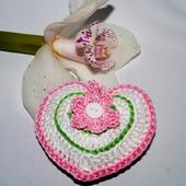 Валентинка сердечко вязанное интерьерное