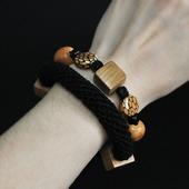 Поздняя осень. Натуральный браслет в стиле бохо.