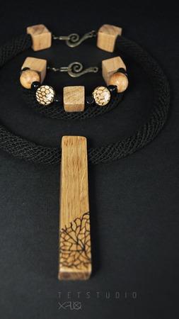 Поздняя осень. Натуральный браслет в стиле бохо. ручной работы на заказ