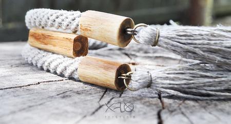 Лаконичная льняная подвеска из виноградной лозы ручной работы на заказ