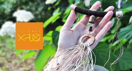 Натуральное колье в этническом стиле ручной работы на заказ