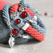 Набор льняных браслетов