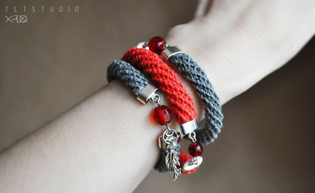 Набор льняных браслетов ручной работы на заказ
