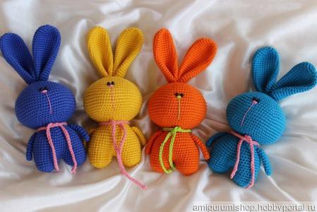 Радужные зайцы ручной работы на заказ