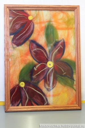 "Картина ""Фантазийные цветы"" ручной работы на заказ"