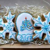 "Новогодний набор пряников ""Снежинки и варежка"""