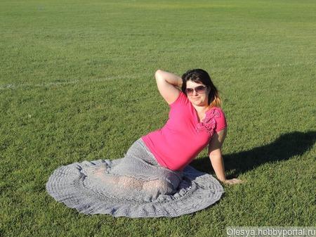 Каскадная юбка в пол ручной работы на заказ