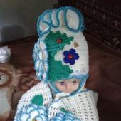 Детские наборы из шапки и шарфика