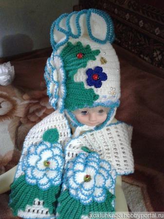 Детские наборы из шапки и шарфика ручной работы на заказ