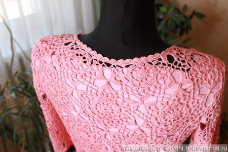Платье мотивами ручной работы на заказ