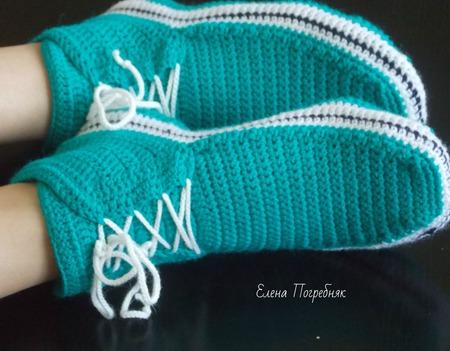 Тапочки-кеды ручной работы на заказ