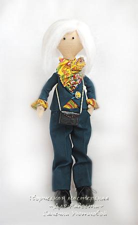 Интерьерная кукла Линда ручной работы на заказ