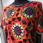 Пуловер вязаный  В Багрец и Золото одетые леса