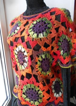 Пуловер вязаный  В Багрец и Золото одетые леса ручной работы на заказ