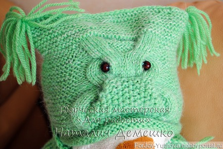 Вязаный комплект Совушка (шапка и шарф) ручной работы на заказ