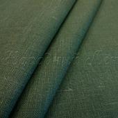Ткань льняная тёмно-зелёная