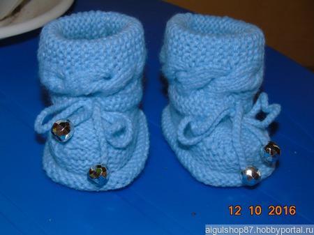 Теплые пинетки для новорожденного ручной работы на заказ
