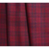 Ткань льняная костюмная в сетку