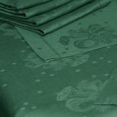 """Ткань льняная """"Новогодняя"""" зелёная"""