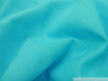 Ткань костюмная бирюзовая ручной работы на заказ