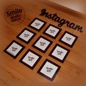 Композиция из фоторамок Instagram