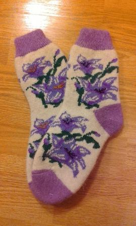 Носки женские круговые без шва ручной работы на заказ