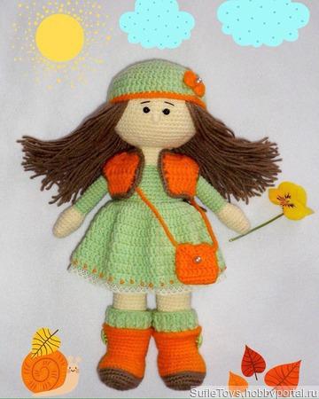 Осенняя девочка ручной работы на заказ