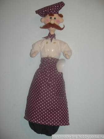 """Кукла-пакетница """"Повар Ганс"""" ручной работы на заказ"""