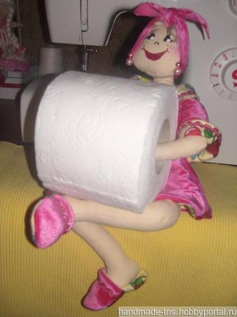 """Кукла """"Солоха"""" -держатель рулона туалетной бумаги ручной работы на заказ"""