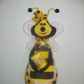 """Пакетница """"Пчёлка"""" - украшение для кухни."""