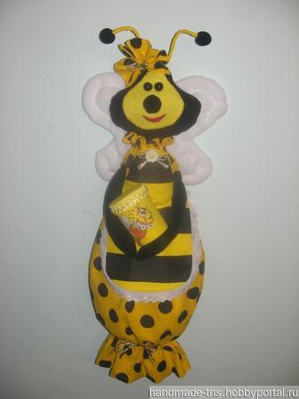 """Пакетница """"Пчёлка"""" - украшение для кухни. ручной работы на заказ"""