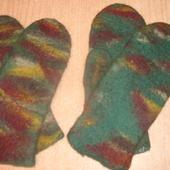 """Мужские рукавички из войлока """"Камуфляж"""""""