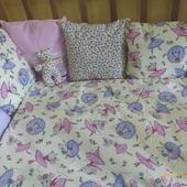 Бортики подушки в кроватку Мышки балерины
