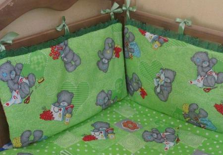 Комплект в кроватку мишки Тедди ручной работы на заказ