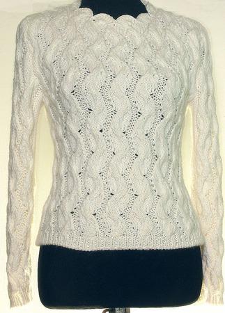 Пуловер Саманта ручной работы на заказ