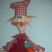 """Кукла-пакетница """"Повар Рыжик"""""""