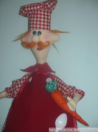 """Кукла-пакетница """"Повар Рыжик"""" ручной работы на заказ"""