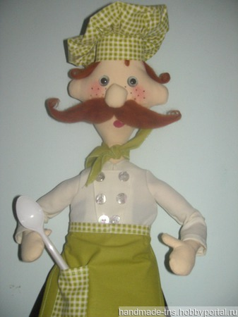 """Кукла - пакетница """"повар Клаус"""" ручной работы на заказ"""