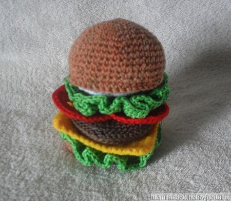 Гамбургер по МК Дарьи Никулиной ручной работы на заказ