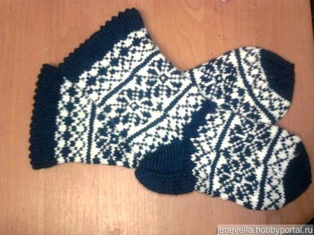 Носки жаккардовые ручной работы на заказ