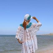 """Вязаное пляжное платье """"Море счастья"""""""