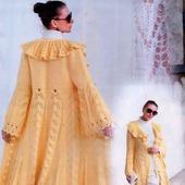 Вязаное  пальто «Песня лимонного ветра»