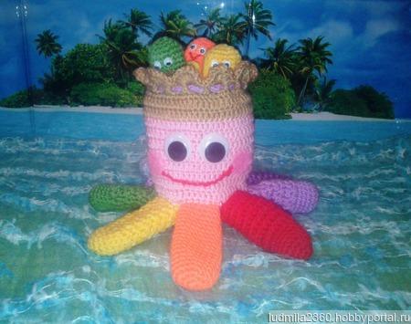 Развивающая игрушка Радужный Осьминог ручной работы на заказ