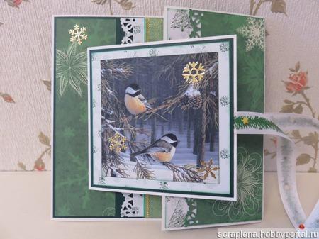 Новогодняя открытка ручной работы на заказ