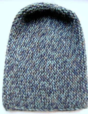 Шапка-бини из альпаки реактивного кручения ручной работы на заказ