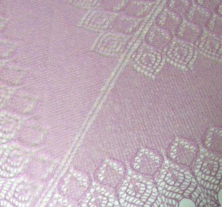 Ажурная шаль из тонкого итальянского кид-мохера ручной работы на заказ