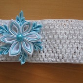 Новогодняя повязка для малышки